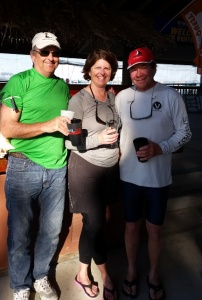 From left to right: Dave Eberwine, Barb Amthor, and Henry Amthor, second in February and second overall for the winter.