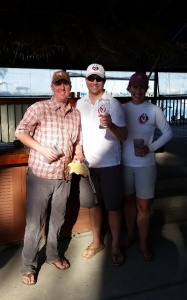 From left to right: Danny Pletsch, Peter Beardsley, and Rachel Beardsley, February and overall Sarasota Circuit winners.