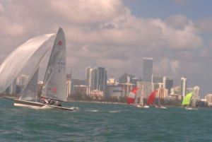 Day 1 leaders from Ireland Anthony O'Leary and team showed excellent downwind speed