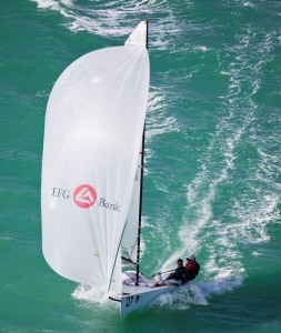 Somers Kempe and company from  Bermuda have the experience in breezy conditions.