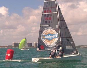 Somers Kempe, Butch Agnew and Adam Barboza grinding down the fleet in Race 6 on Monday en route to the Winter Cup title.