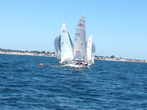 Sunday racing off Groton, CT.