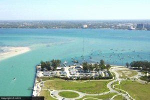 Sarasota Sailing Squadron from above
