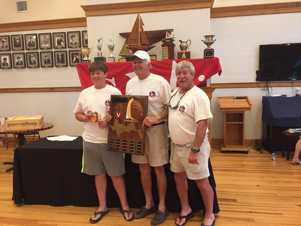 Thomas Duffy, John Dane, Dave Bolyard with Gulf Coast Championship Trophty