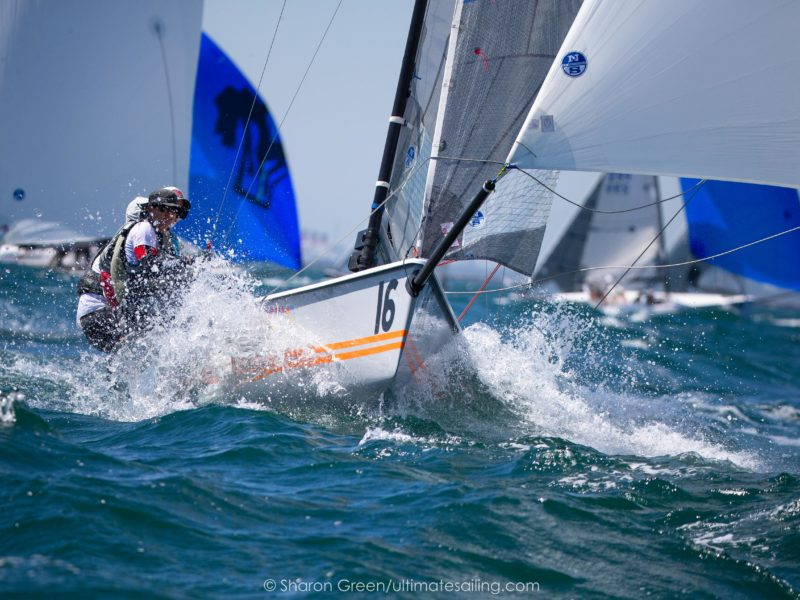 """Have been meaning to write this since after the February Sarasota event, but it seems like we need some content and as weather improves and people open up, maybe now is a good time to think about your boathandling and visualize some maneuvers. Generally there are four tips of spinnaker douses in Vipers: 1. Left hand turn (i.e., port rounding), coming in on port gybe = windward douse 2. Left hand turn, coming in on starboard gybe = gybe drop, aka """"a Mexican"""" or a """"Kiwi"""" (not sure on the origin of the Kiwi phrase - Mexican allegedly goes back to the 1992 America's Cup when you did this takedown when the boat was pointed toward Mexico off Point Loma, and I sincerely hope for no other reason) 3. Right hand turn (i.e., starboard rounding, when there are leeward gate marks), coming in on starboard = leeward douse 4. Right hand turn, coming in on port = """"Canadian"""" douse (i.e., a reverse Mexican. Duly noted that this is an Amero-centric version of the universe, maybe the Aussies could call it a Singapore douse?) - i.e., a weather douse with a gybe mid-weather douse. You'd think that based on which gate you're rounding and the gybe you're coming in on would dictate the type of douse you're going to do. We typically talk about this once we're approaching 20 lengths or so from the mark what we're likely to do, bearing in mind that a last minute adjustment may be required, which is easy to do in a Viper thanks to the kite retrieval system allowing for maximum flexibility. However, we've learned in windy conditions, that when you're planning to make a left hand turn and you're coming in on starboard, a Gybe Douse just doesn't work. Yes, you need to douse. Yes, you need to gybe. But the douse of choice cannot be a gybe douse - it must be a leeward douse. We've learned this the hard way too many times and it took 10 years of Viper sailing to finally acknowledge this point on my end. Why a leeward douse? Think about your goals when rounding a leeward mark: 1. Get the kite down prio"""